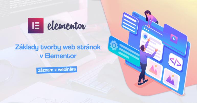 Školenie tvorby web stránok v Elementor Free